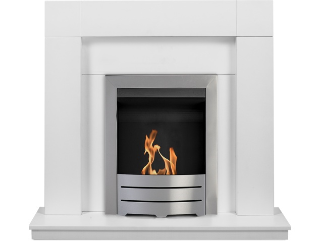 adam-malmo-fireplace-suite-in-pure-white-with-colorado-bio-ethanol-fire-in-brushed-steel-39-inch