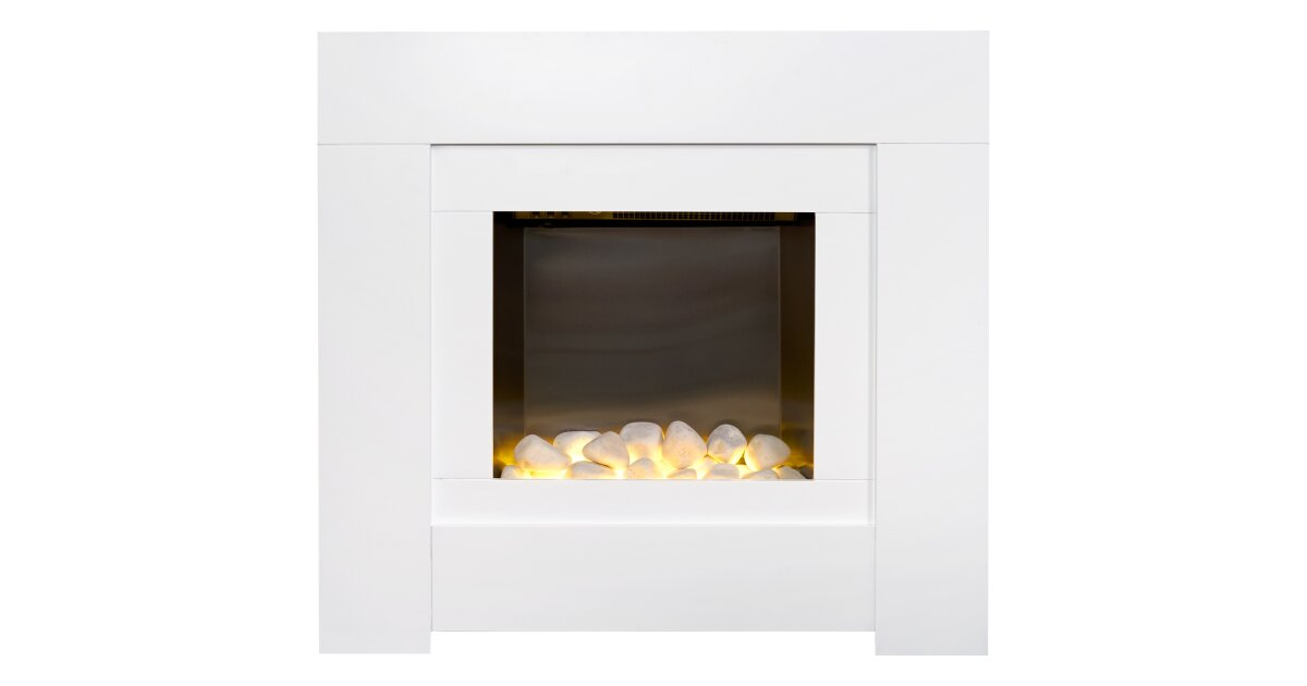 Strange Adam Brooklyn Electric Fireplace Suite In Pure White 30 Inch Interior Design Ideas Inesswwsoteloinfo