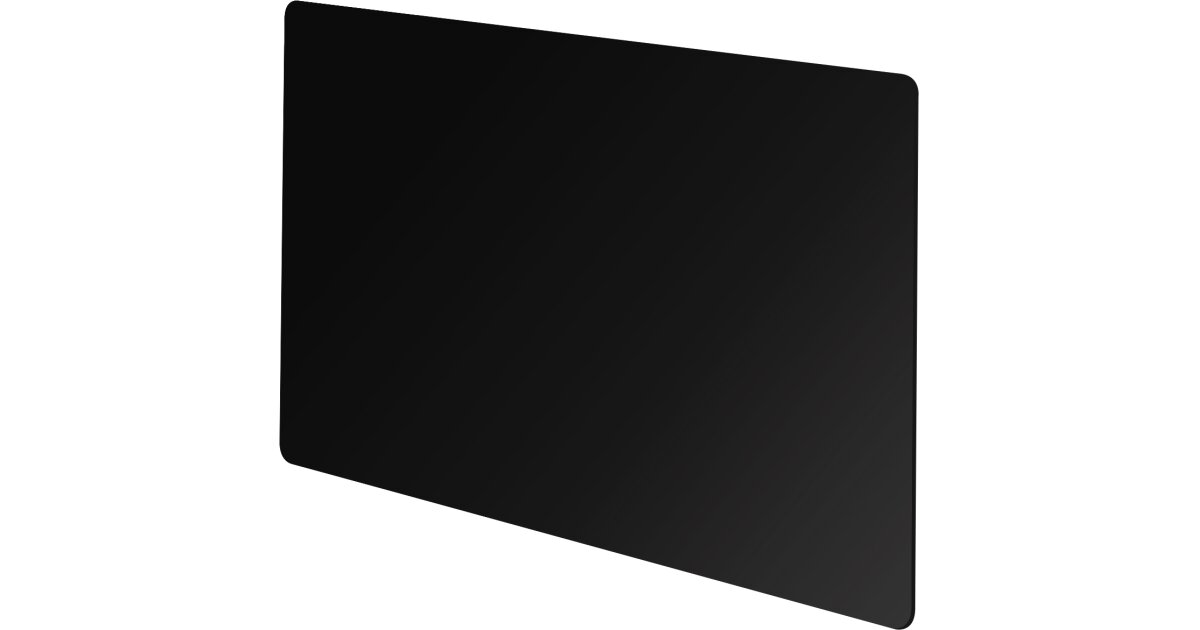 Vitreo Small Radiator Cover In Black Glass 900mm Fireplace World