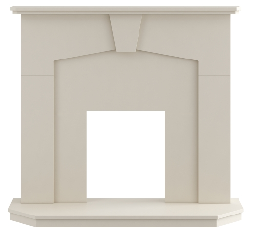 Image of Adam Abbey Fireplace in Stone Effect, 48 Inch