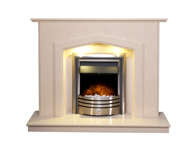 Adam Barrington Fireplace Suite In Roman Stone With