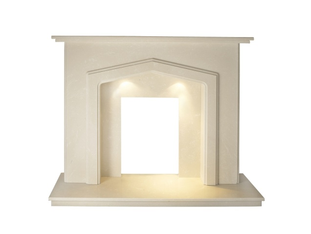 barrington-roman-marble-fireplace-with-downlights-54-inch