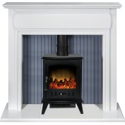 adam-florence-stove-suite-in-pure-white-with-aviemore-electric-stove-in-black-enamel-48-inch
