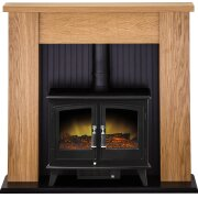 adam-new-england-stove-suite-in-oak-with-woodhouse-electric-stove-in-black-48-inch
