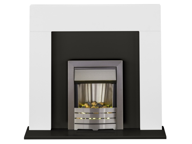 adam-miami-fireplace-suite-in-pure-white-and-black-with-helios-fire-in-brushed-steel-48-inch
