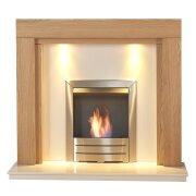 adam-fenwick-in-oak-white-marble-with-downlights-colorado-bio-ethanol-fire-in-brushed-steel-48-inch