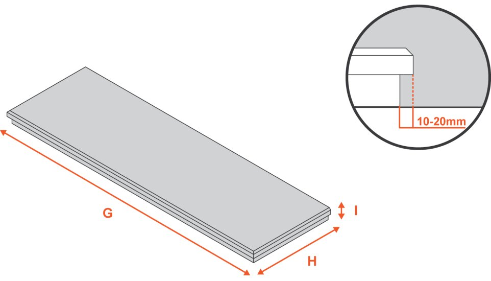 white-marble-hearth-54-inch Diagram