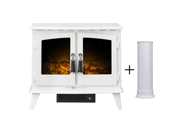 adam-woodhouse-electric-stove-in-pure-white-with-straight-stove-pipe-in-pure-white