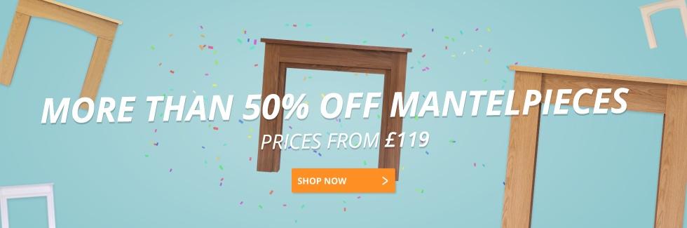 More Than 50% Off Mantelpieces