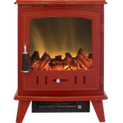adam-aviemore-electric-stove-in-red-enamel-with-straight-stove-pipe