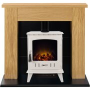adam-chester-stove-suite-in-oak-with-aviemore-electric-stove-in-cream-enamel-39-inch