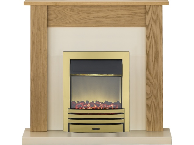 Adam Southwold Fireplace Suite In Oak With Eclipse