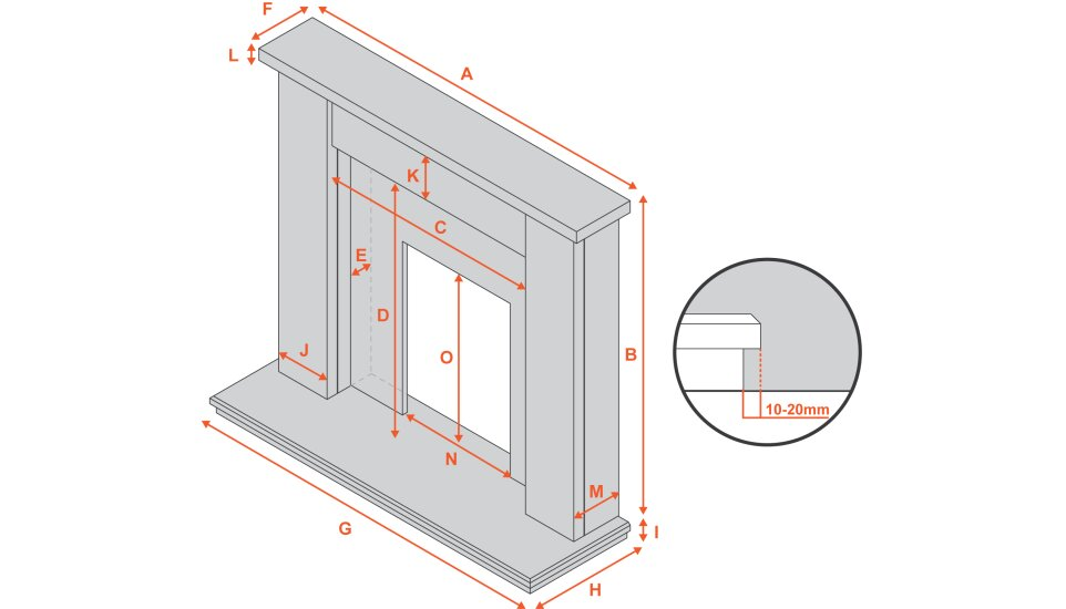 adam-malmo-fireplace-in-oak-and-blackcream-39-inch Diagram