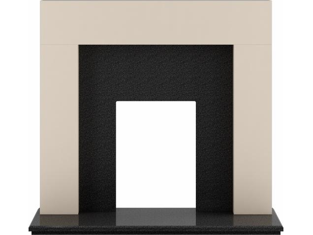 adam-miami-fireplace-in-cream-and-granite-48-inch