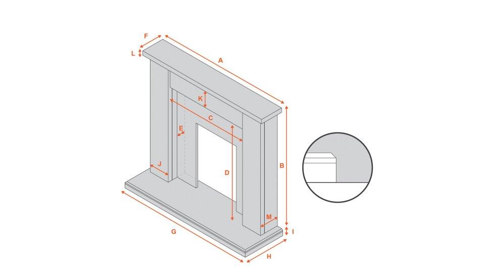 adam-kensington-fireplace-suite-in-stone-effect-40-inch Diagram