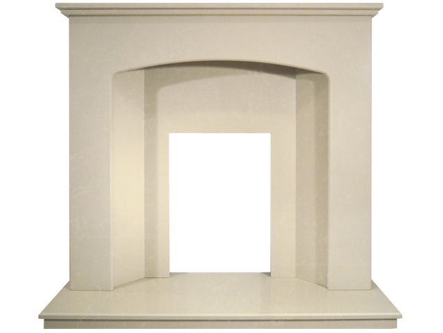 valletta-roman-marble-fireplace-with-downlights-48-inch