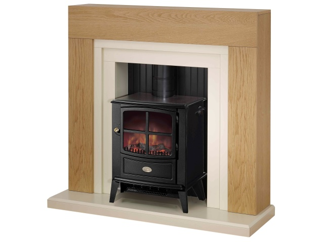 adam horton fireplace suite with brayford electric stove 48 inch fireplace world. Black Bedroom Furniture Sets. Home Design Ideas