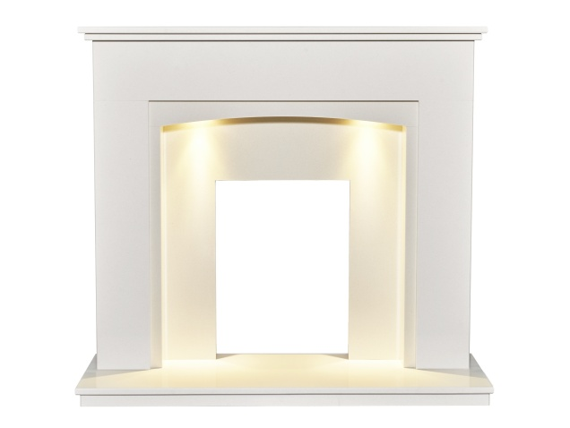 sarande-white-marble-fireplace-with-downlights-48-inch