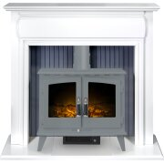 adam-florence-stove-suite-in-pure-white-with-woodhouse-electric-stove-in-grey-48-inch