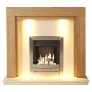 adam-fenwick-in-oak-white-marble-with-downlights-hera-gas-fire-in-brushed-steel-48-inch