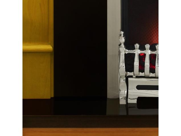 Victorian Corbel Golden Pine Black Electric Fireplace Fireplace World