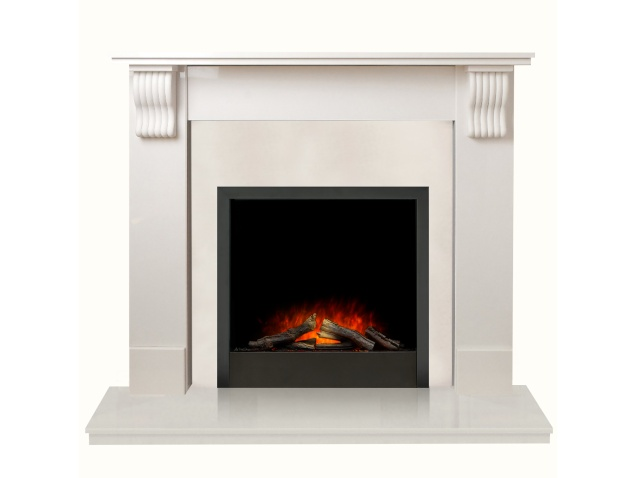 Tewkesbury Fireplace In White Stone With Adam Ontario
