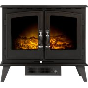 adam-woodhouse-electric-stove-in-black-with-angled-stove-pipe