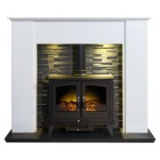 montara-crystal-white-marble-fireplace-with-downlights-woodhouse-electric-stove-in-black-54-inch