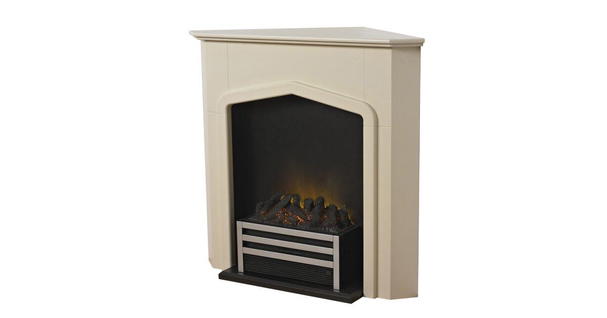 Adam Cheshire Stone Effect Corner, Electric Corner Fireplace Uk
