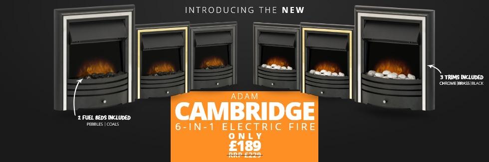 Adam Cambridge 6-in-1 Electric Fire