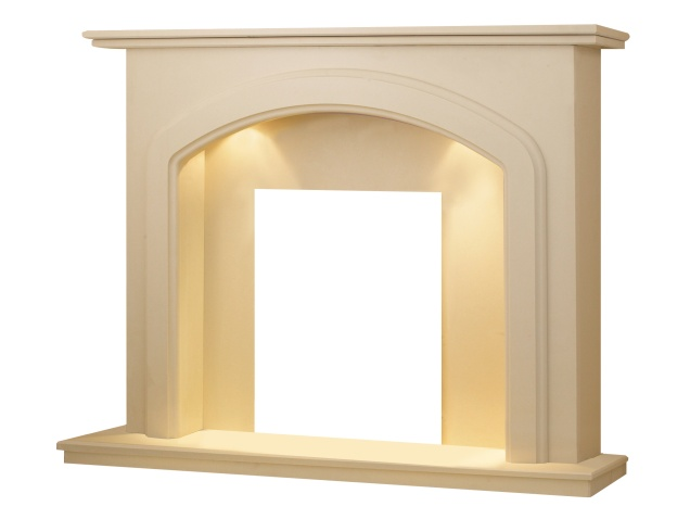 lincoln-roman-marble-fireplace-with-downlights-54-inch