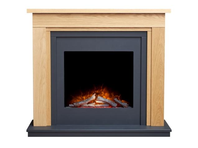 Adam Bwood Electric Fireplace Suite, Oak Electric Fireplaces