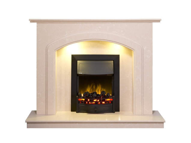 Adam Lincoln Fireplace Suite In Roman Stone With Dimplex