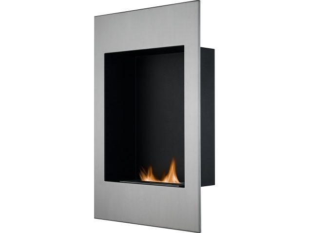 The Alexis Wall Mounted Bio Ethanol Fire In Stainless Steel 20