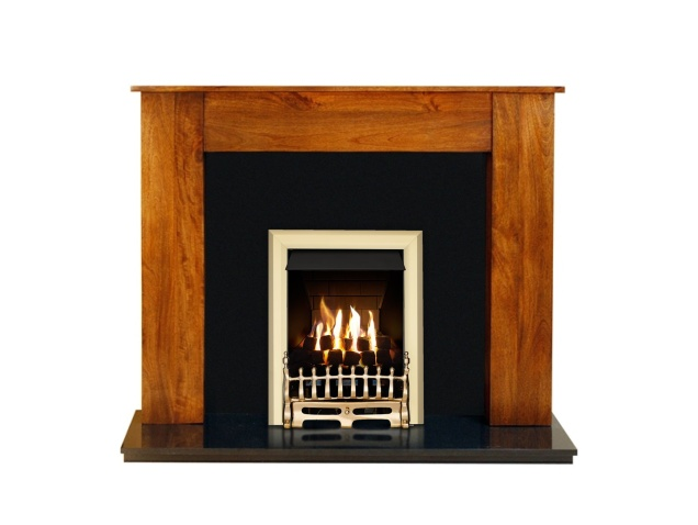 Remarkable Adam New England Fireplace In Acacia Black Granite With Adam Blenheim Gas Fire In Brass 54 Inch Interior Design Ideas Clesiryabchikinfo
