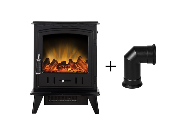 adam-aviemore-electric-stove-in-black-enamel-with-angled-stove-pipe