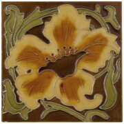 the-tubelined-yellow-flower-fireplace-tiles-in-red-by-carron-set-of-10