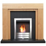 adam-beaumont-oak-black-fireplace-with-downlights-colorado-bio-ethanol-fire-in-brushed-steel-48-inch