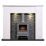 montara-crystal-white-marble-fireplace-with-downlights-hudson-electric-stove-in-grey-54-inch