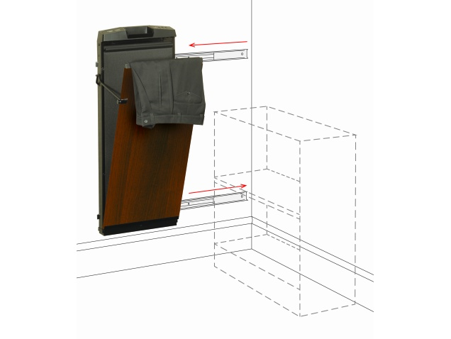 Corby 7700 Walnut Ash Space Saver Trouser Press That Slides To Right Corby Of Windsor