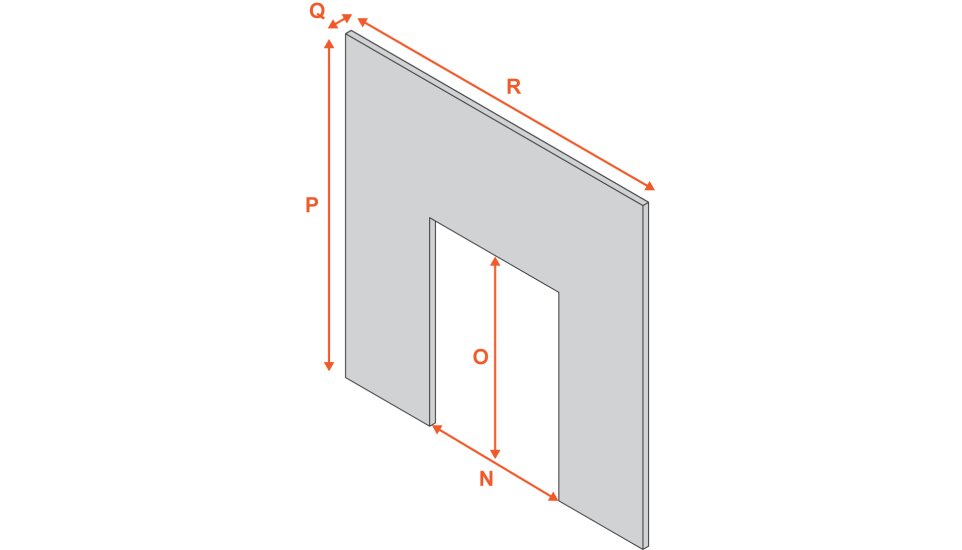 fireplace-back-panel-in-marfil-stone-37-inch Diagram