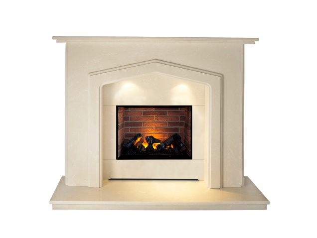 The Barrington Optimyst Fireplace Suite In Roman Stone 54 Inch