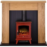 adam-new-england-stove-suite-in-oak-with-aviemore-electric-stove-in-red-enamel-48-inch
