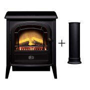 dimplex-club-electric-stove-in-black-with-straight-stove-pipe