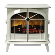 dimplex-chevalier-electric-stove-in-cream-with-straight-stove-pipe