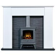 montara-crystal-white-marble-fireplace-with-downlights-aviemore-electric-stove-in-grey-enamel-54-inch