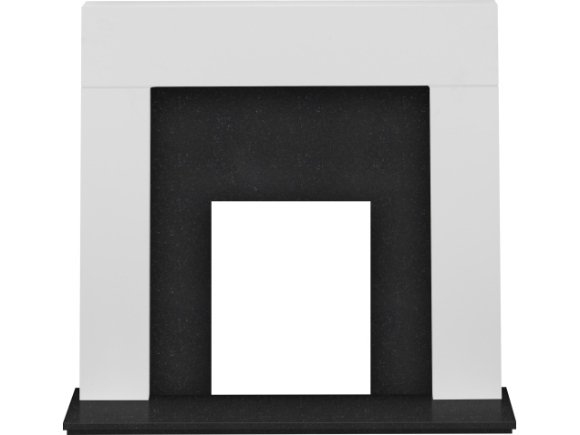 adam-miami-fireplace-in-pure-white-and-black-granite-48-inch