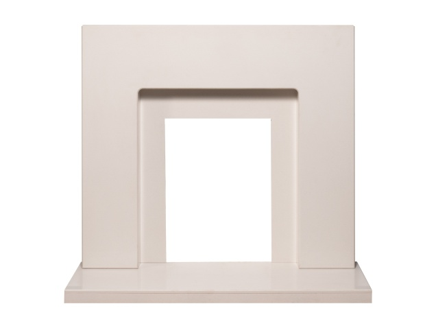 Adam Solitaire Marble Fireplace In Sparkly White