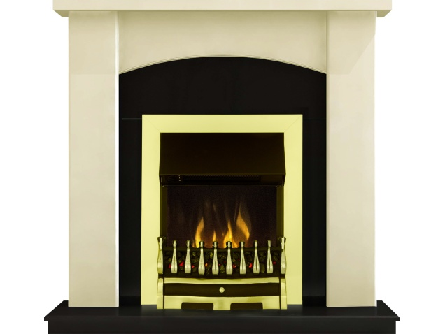 Adam Holden Fireplace Suite In Cream With Dimplex Wynford Electric