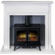 adam-florence-stove-suite-in-pure-white-with-woodhouse-electric-stove-in-black-48-inch